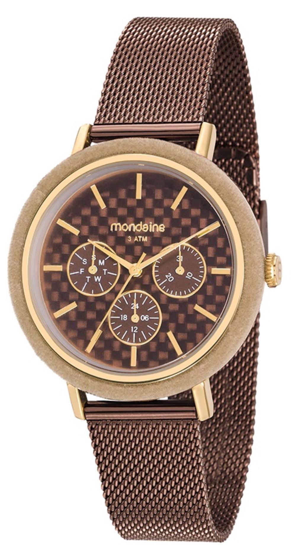 Relógio Feminino Mondaine 89011LPMVAE2 40mm Aço Marrom
