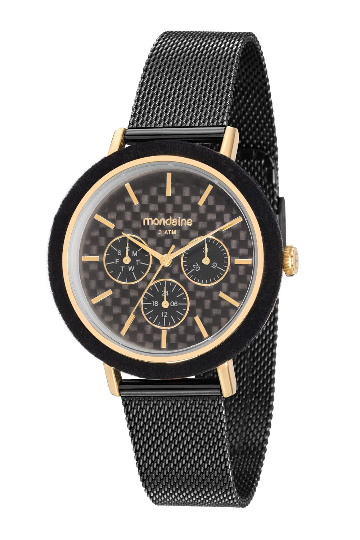 Relógio Feminino Mondaine 89011LPMVHE1 40mm Aço Preto