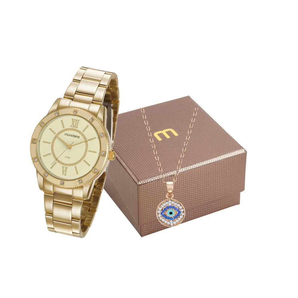 Relógio Feminino Mondaine 99315LPMGDE2K1 36mm Aço Dourado