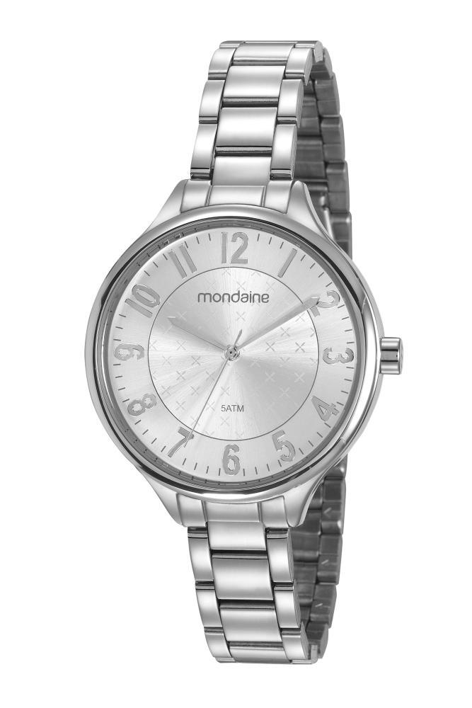 Relógio Feminino Mondaine 99458L0MVNE2 40mm Aço Prata