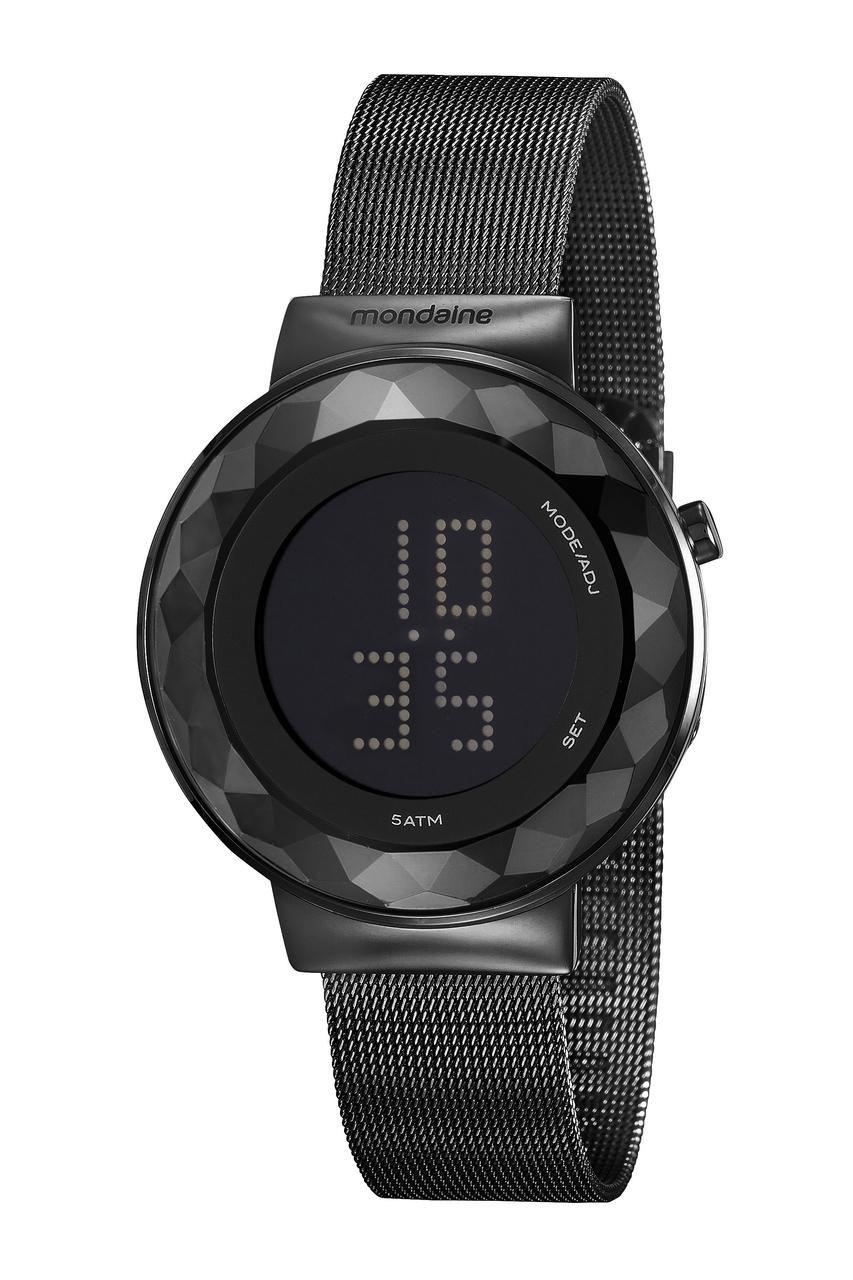 Relógio Feminino Mondaine Digital 32006LPMVPE3 42mm Aço Preto