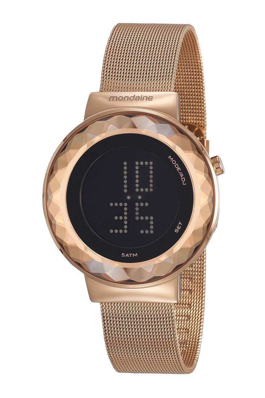 Relógio Feminino Mondaine Digital 32006LPMVRE2 42mm Aço Rose