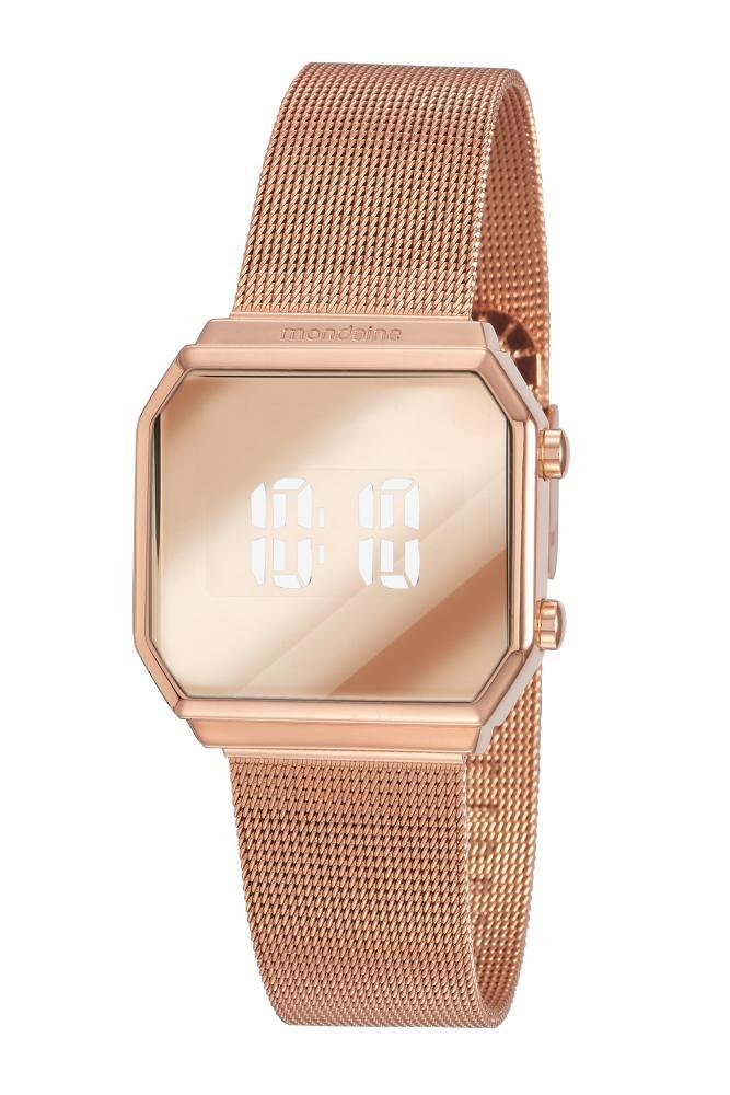 Relógio Feminino Mondaine Espelhado 32121LPMVRE2 33mm Aço Rosé