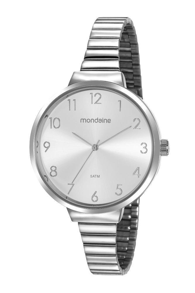 Relógio Feminino Mondaine Minimalista 32116L0MVNE3 41mm Aço Prata