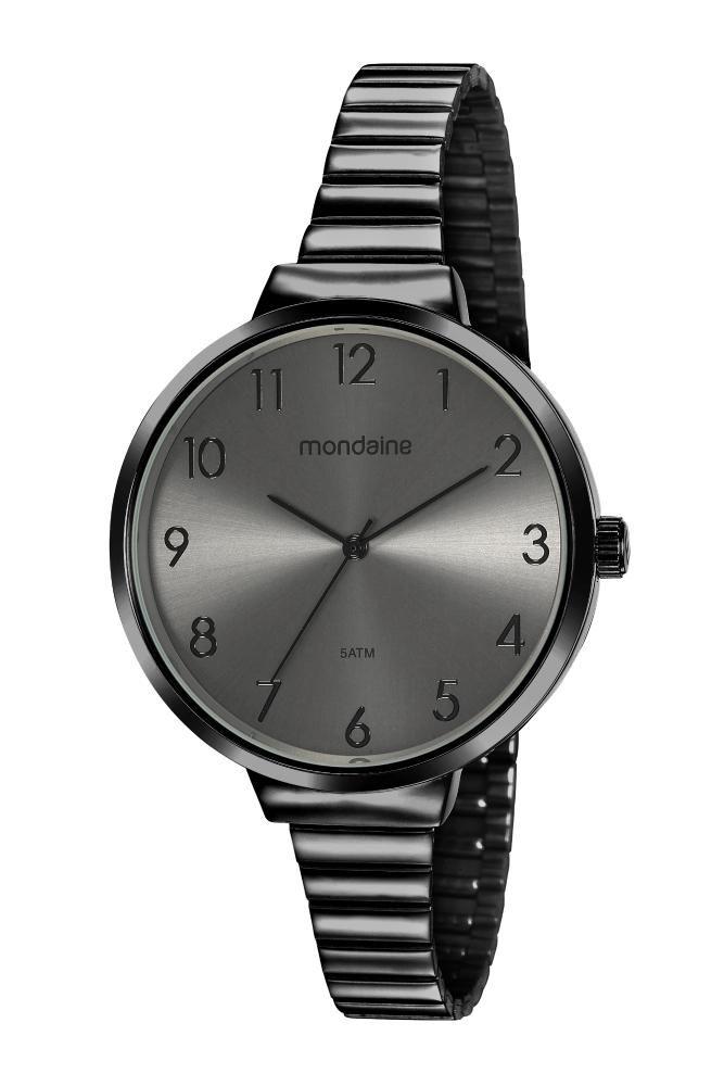 Relógio Feminino Mondaine Minimalista 32116LPMVPE4 41mm Aço Preto