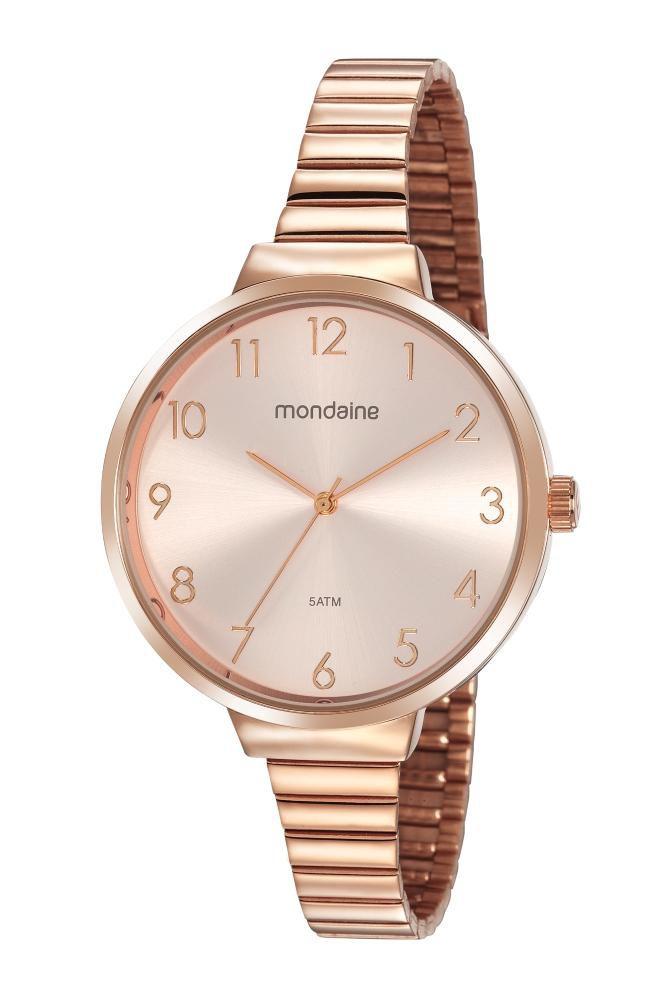 Relógio Feminino Mondaine Minimalista 32116LPMVRE2 41mm Aço Rosé