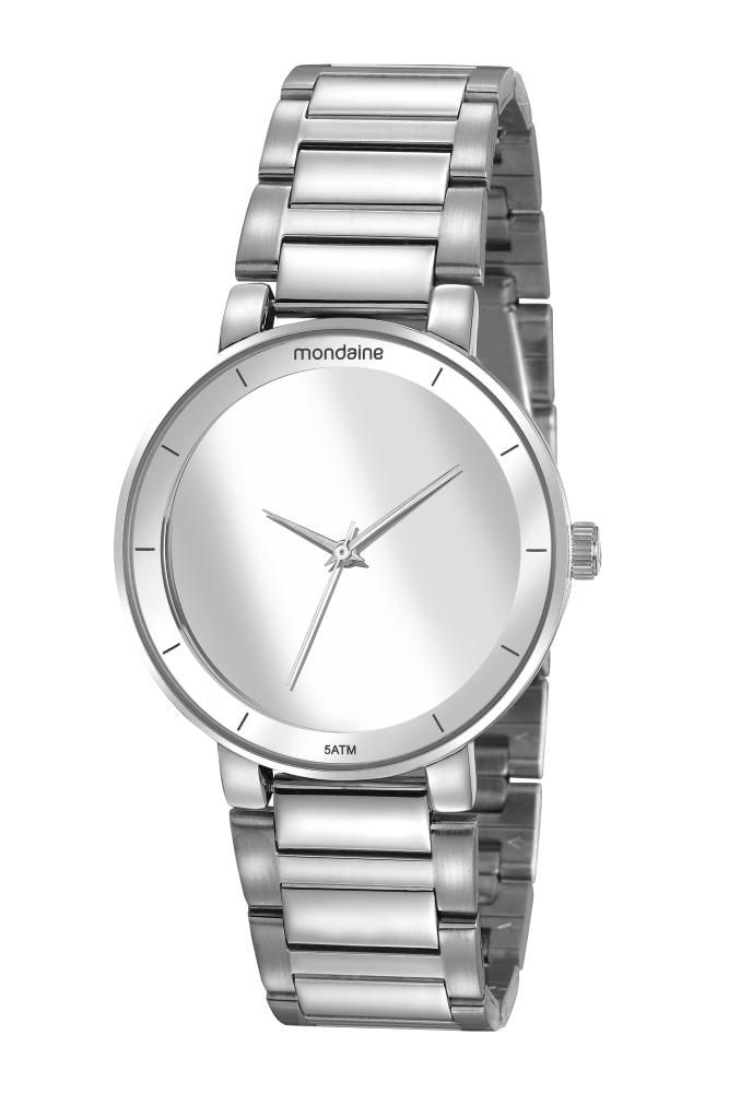 Relógio Feminino Mondaine Minimalista 32118L0MVNE2 40mm Aço Prata