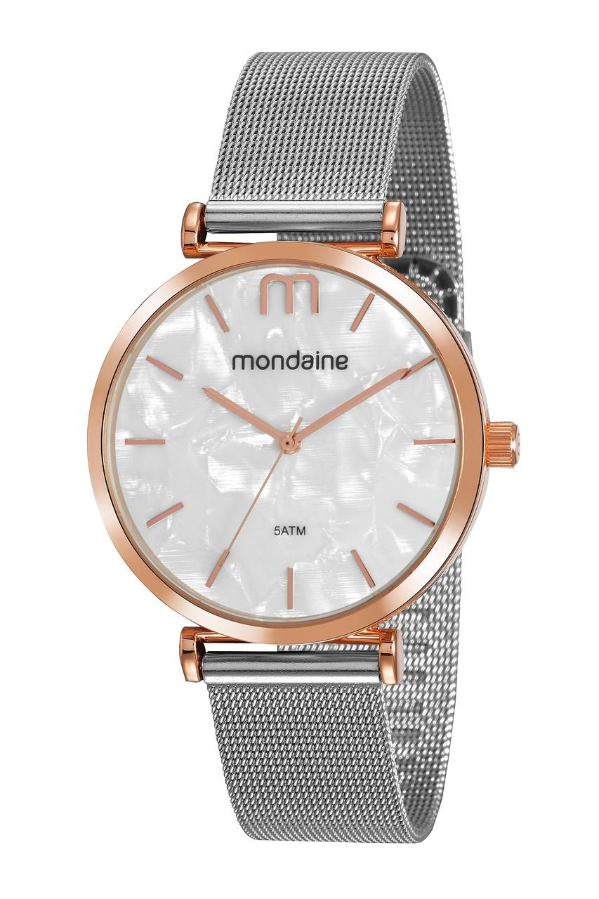 Relógio Feminino Mondaine Minimalista 53780LPMVGE2 40mm Aço Prata