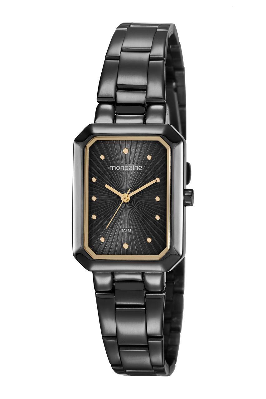 Relógio Feminino Mondaine Vintage 53766LPMVPE1 25mm Aço Preto