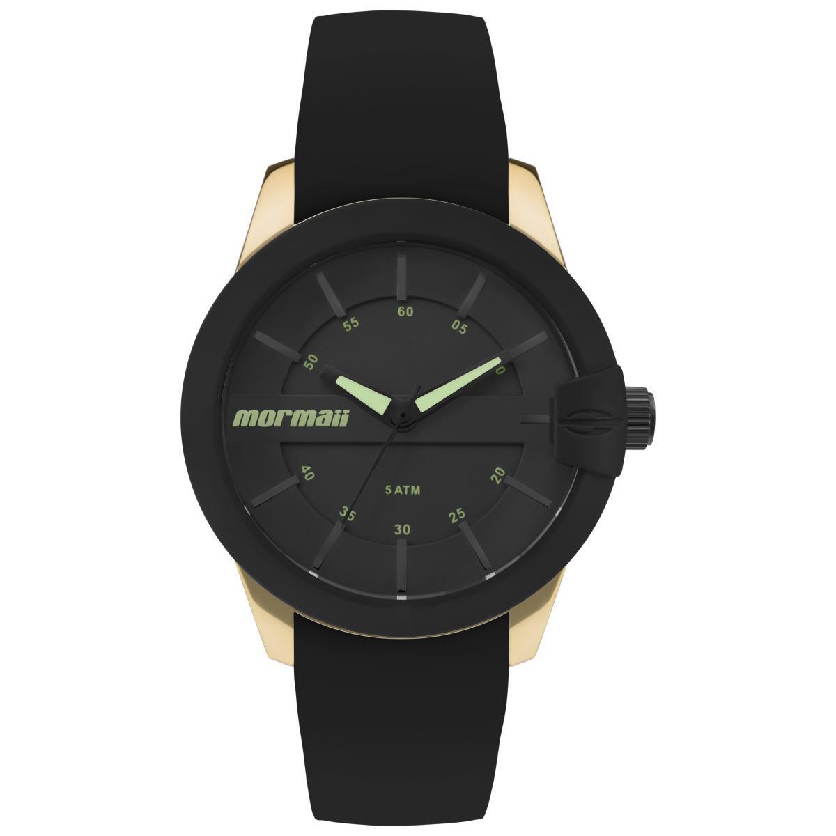 Relógio Feminino Mormaii Maui MO2036IN/8P 41mm Silicone Preto