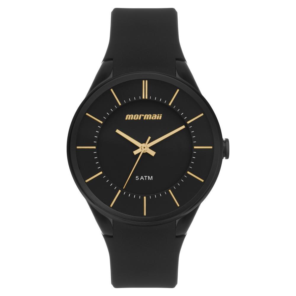 Relógio Feminino Mormaii MO2035KM/8D 40mm Silicone Preto