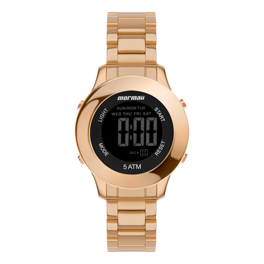 Relógio Feminino Mormaii MO4219AD/7J 37mm Aço Rosé