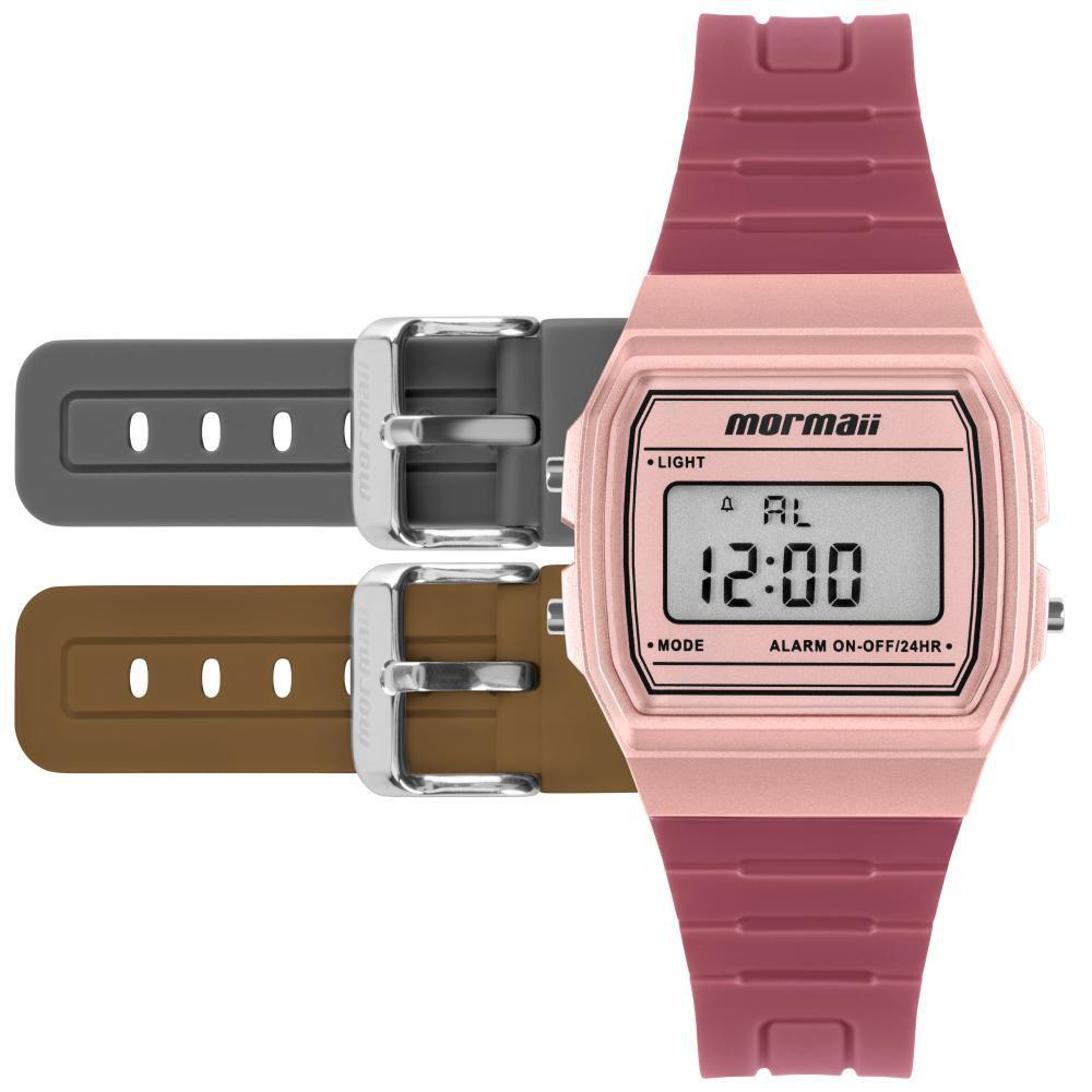 Relógio Infantil Mormaii Vintage MOJH02BE/T8J 35mm Borracha Rosa