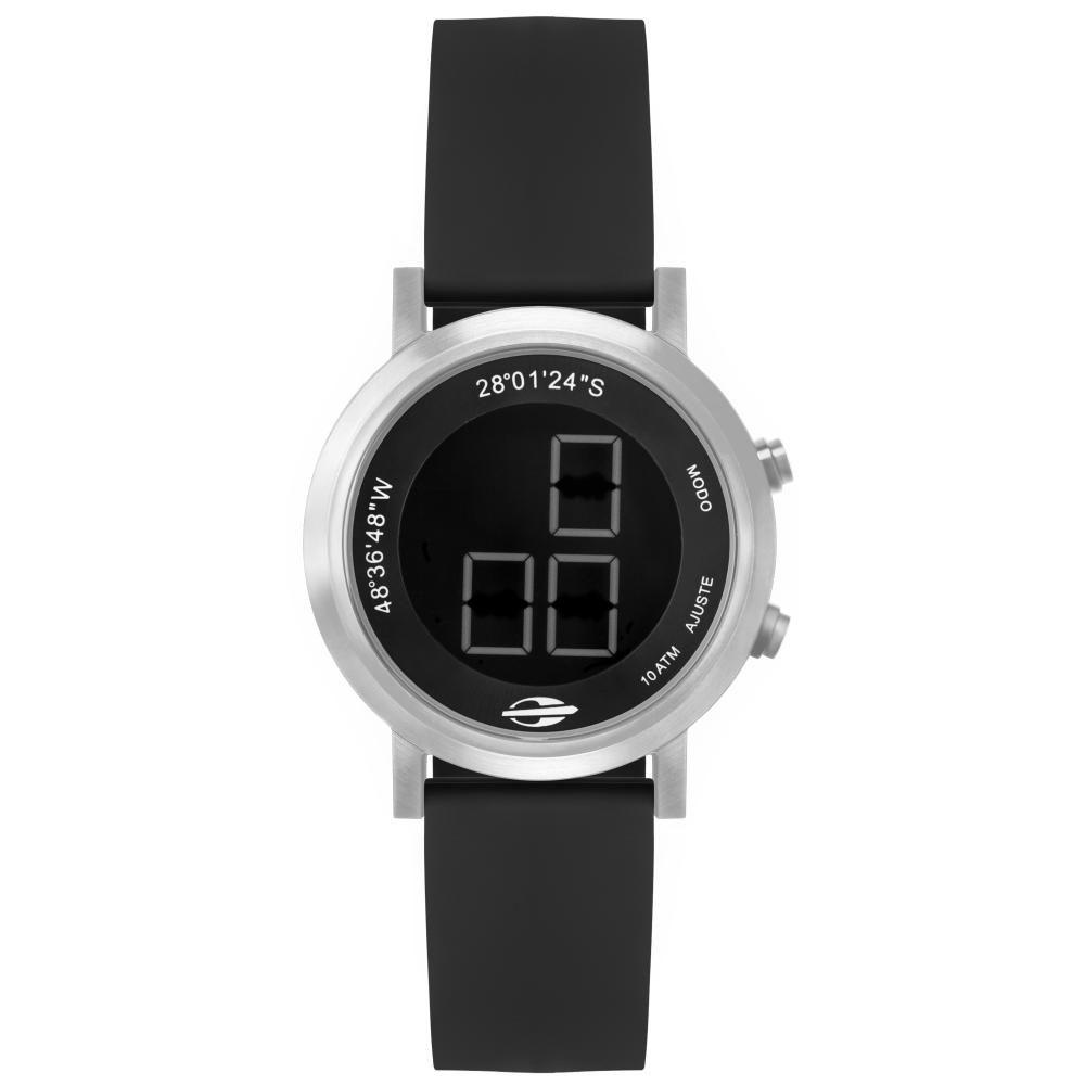 Relógio Feminino Mormaii Sunset MO11929AB/2P 40mm Silicone Preto