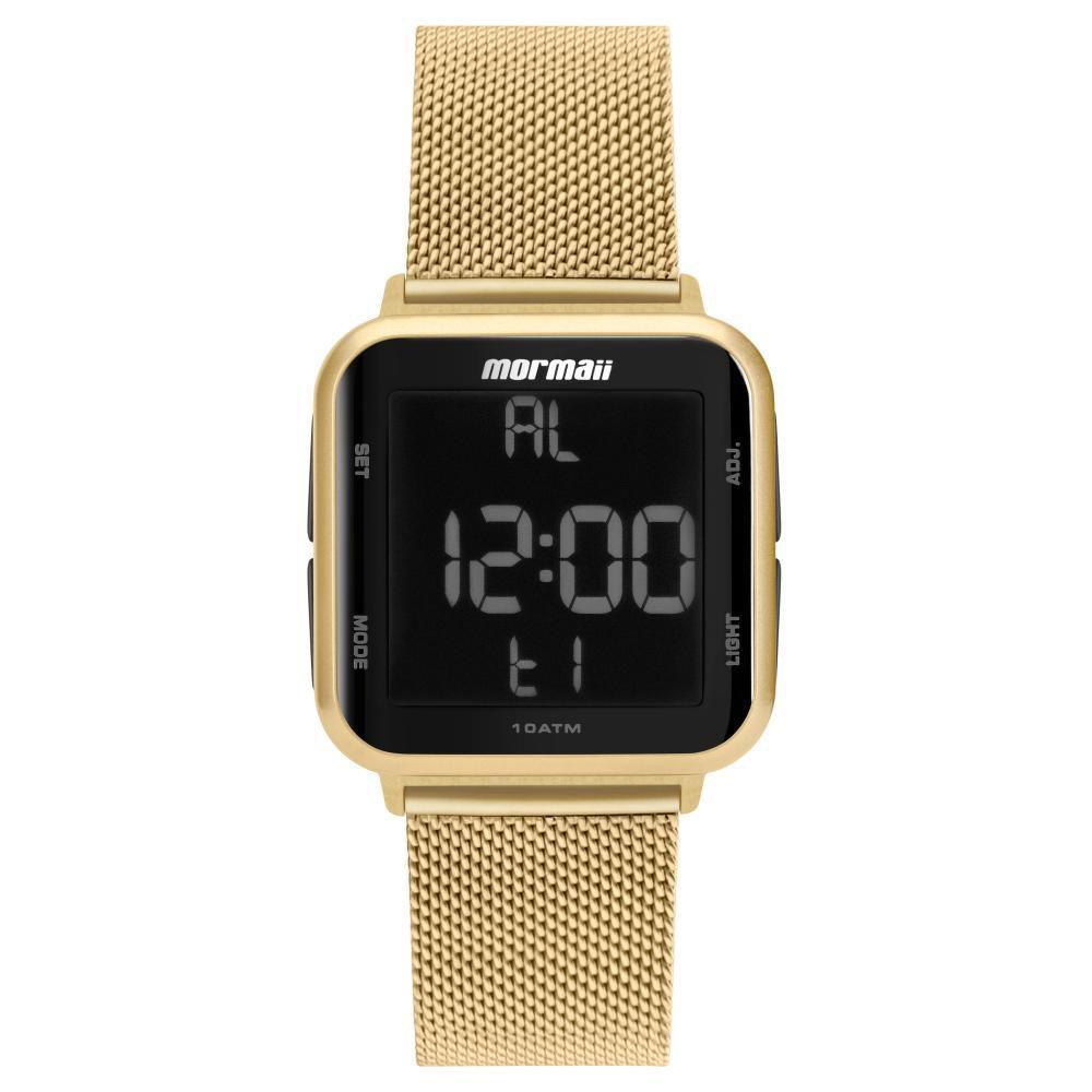Relógio Feminino Mormaii Wave MO6600AH/8D 38mm Aço Dourado