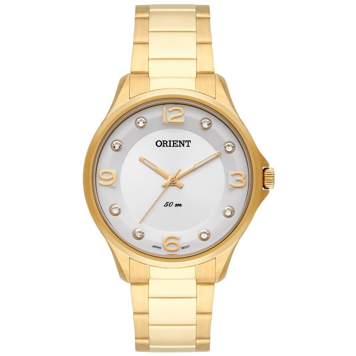 Relógio Feminino Orient FGSS0069-S2KX 36 mm Aço Dourado