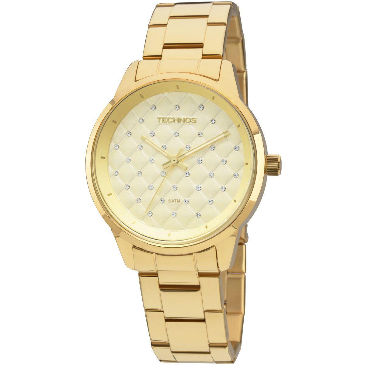 Relógio Feminino Technos 2035MBW/4X 39mm Aço Dourado