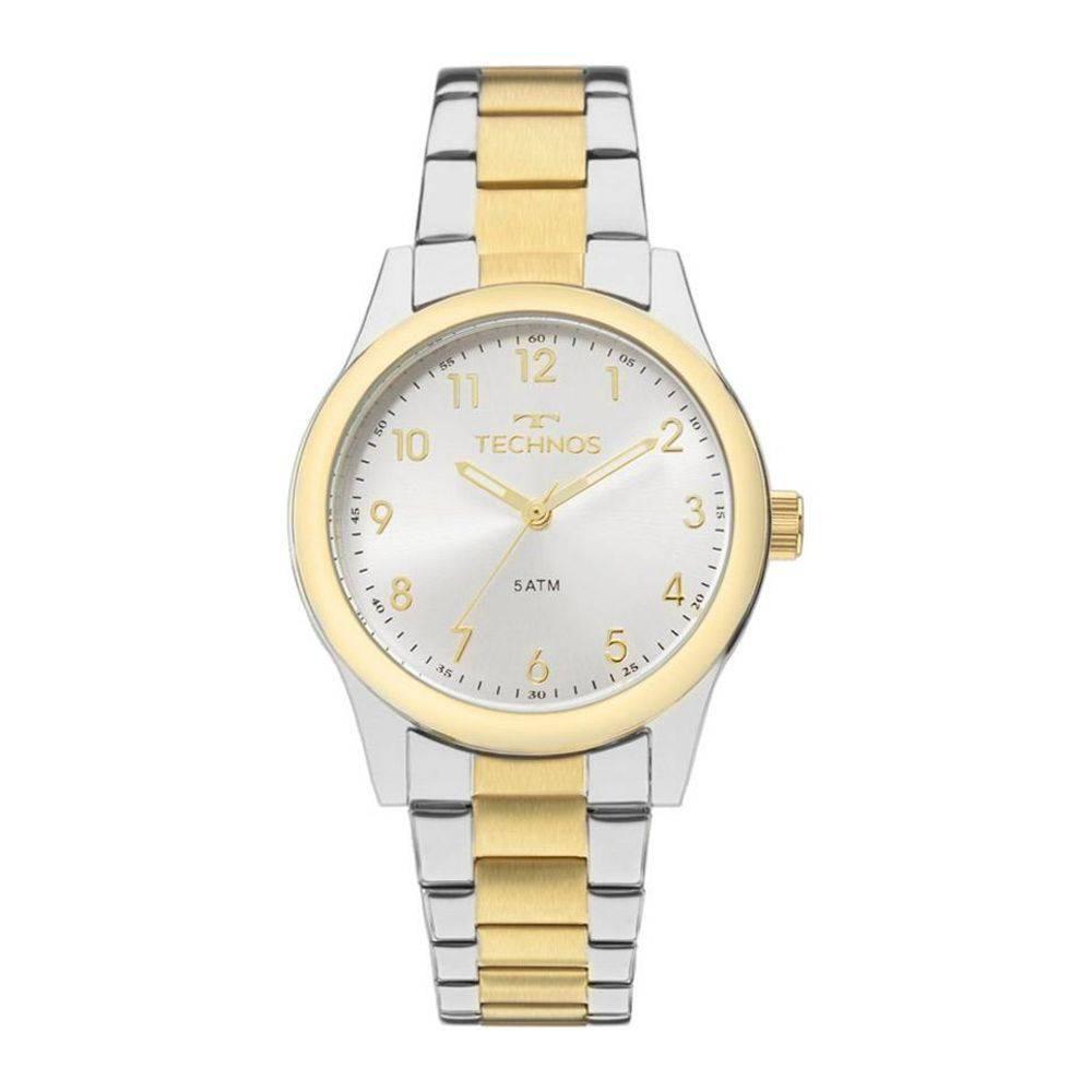 Relógio Feminino Technos 2035MKK/5K Aço Prata/Dourado