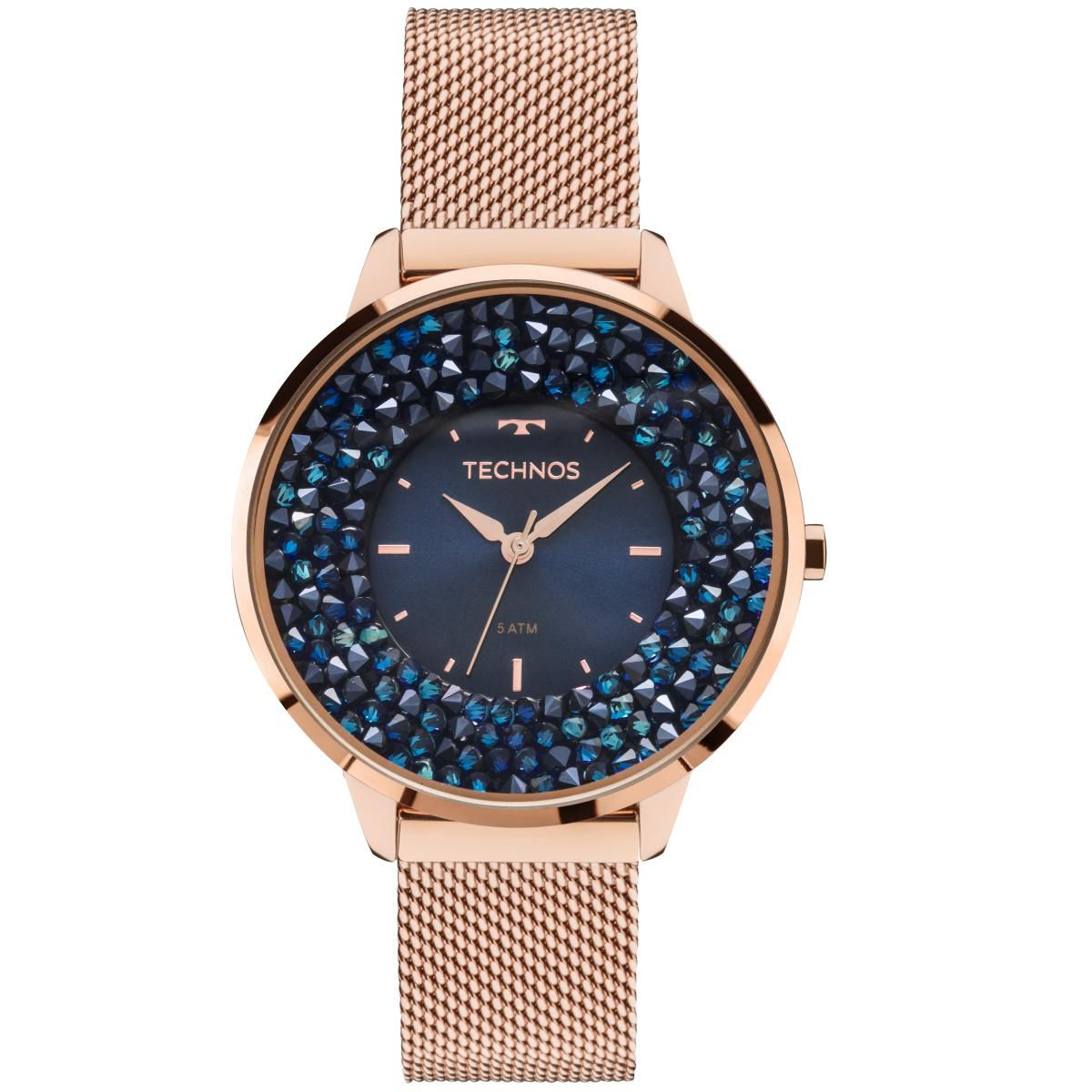 Relógio Feminino Technos 2035MLE/4A 38mm Aço Ro