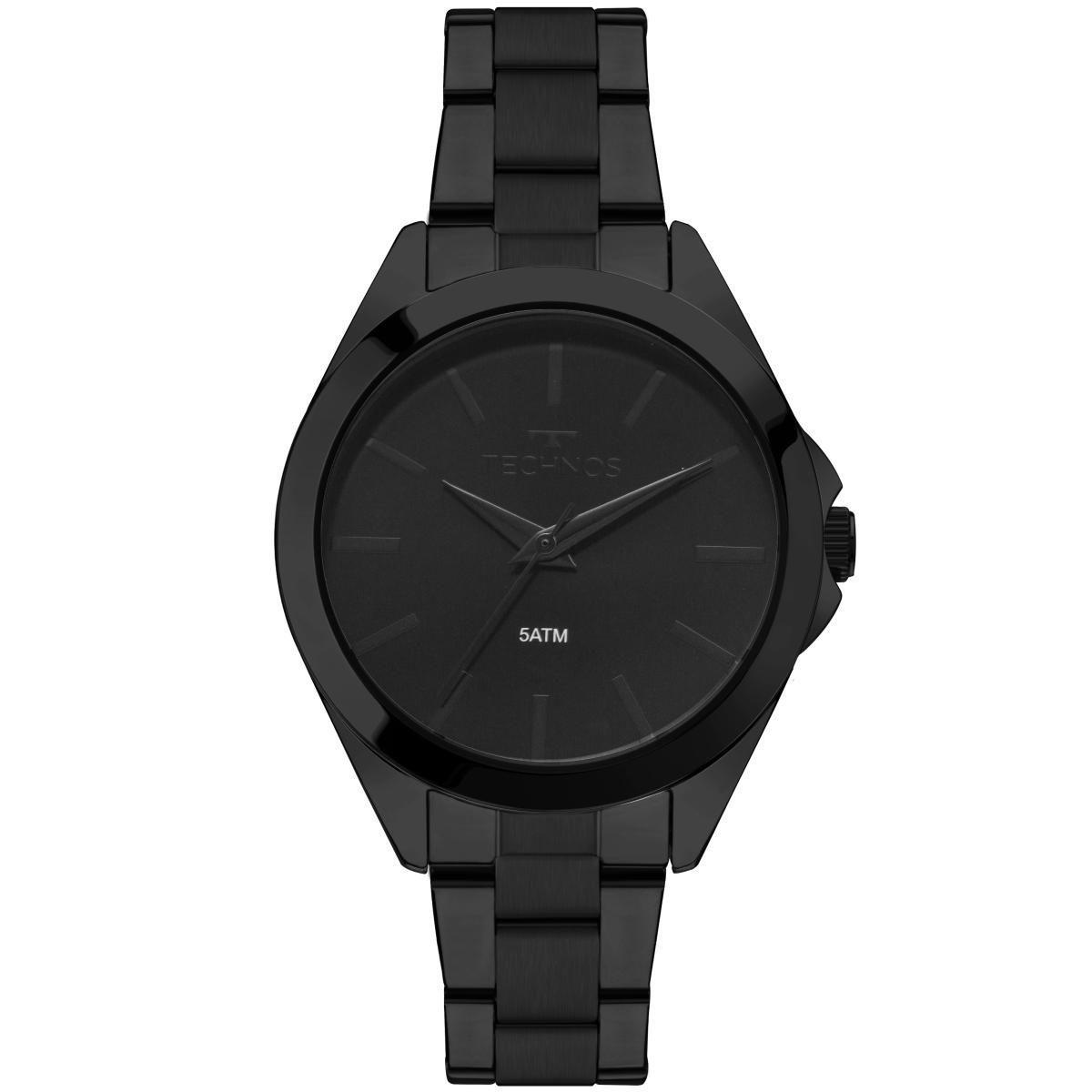 Relógio Feminino Technos 2035MLL/4P Pulseira Aço Preta