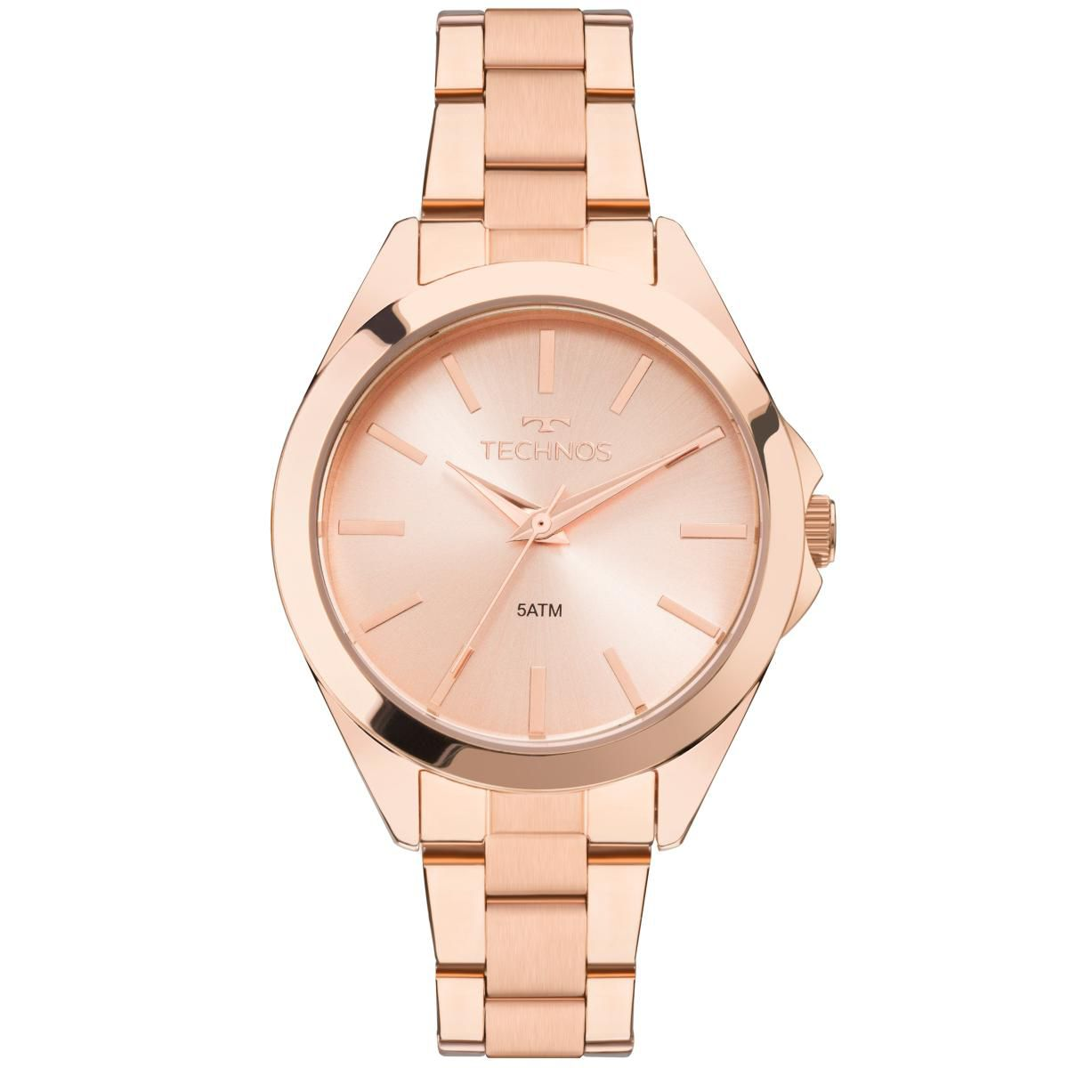 Relógio Feminino Technos 2035MLM/4J 36mm Aço Rose