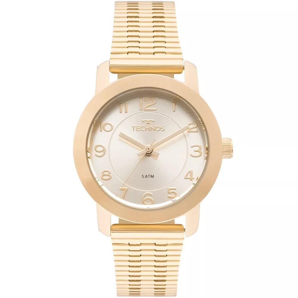 8a86a299d3b Relógio Feminino Technos 2035MLR 4B Aço Dourado