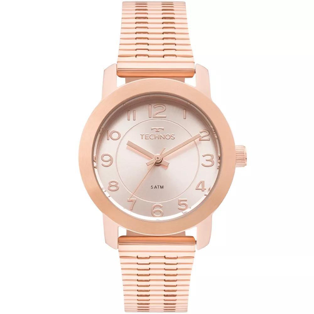 Relógio Feminino Technos 2035MLT/4J Aço Rose