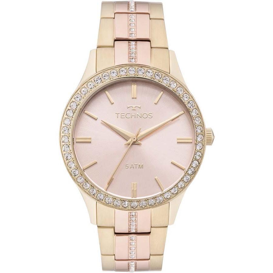 Relógio Feminino Technos 2035MMJ/5T Aço Dourado/Rose