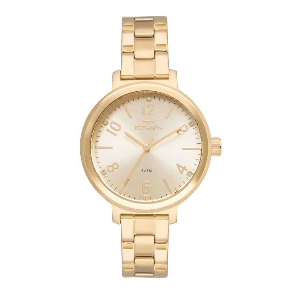 Relógio Feminino Technos  2035MMT/4D 38mm Aço Dourado