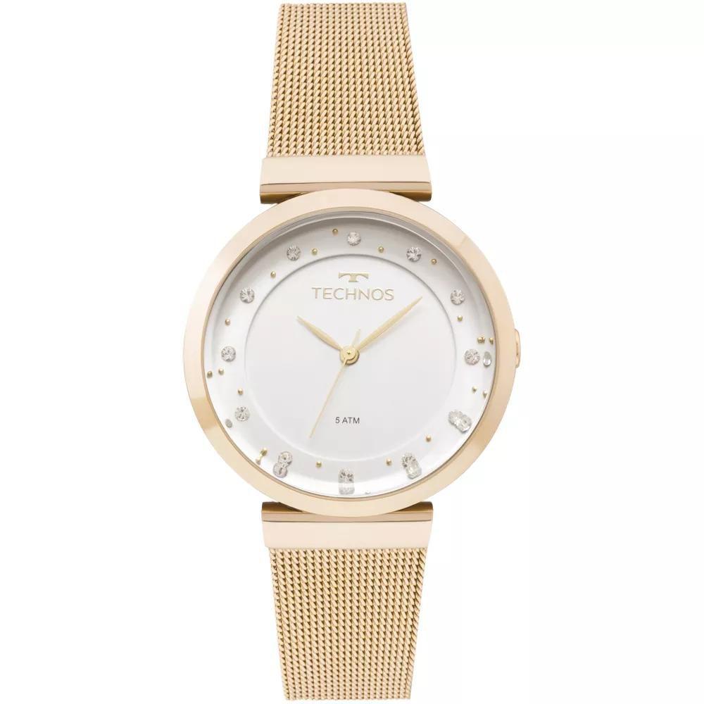Relógio Feminino Technos 2035MMX/4X 36mm AÇo Dourado