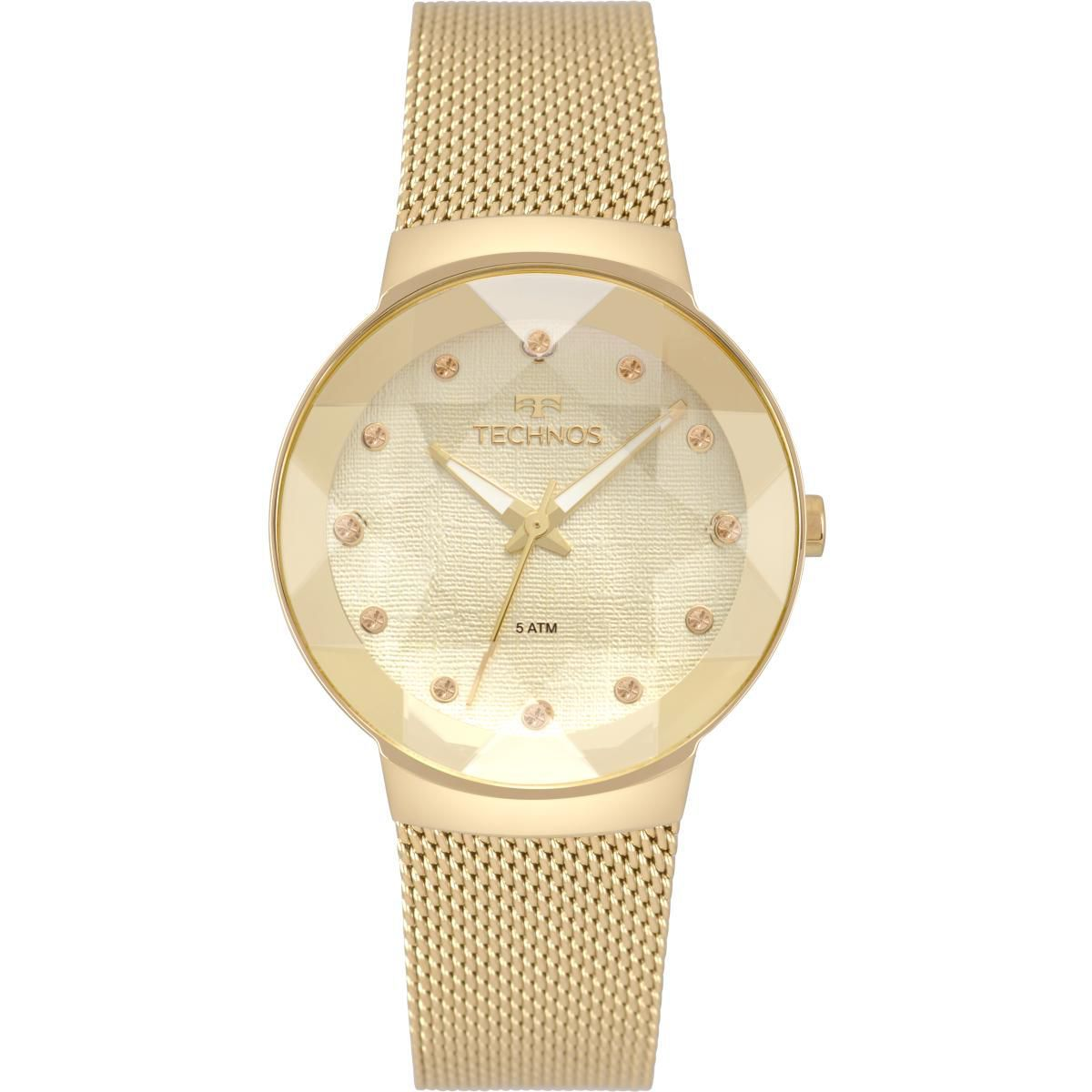 Relógio Feminino Technos 2035MPW/4X 34mm Aço Dourado