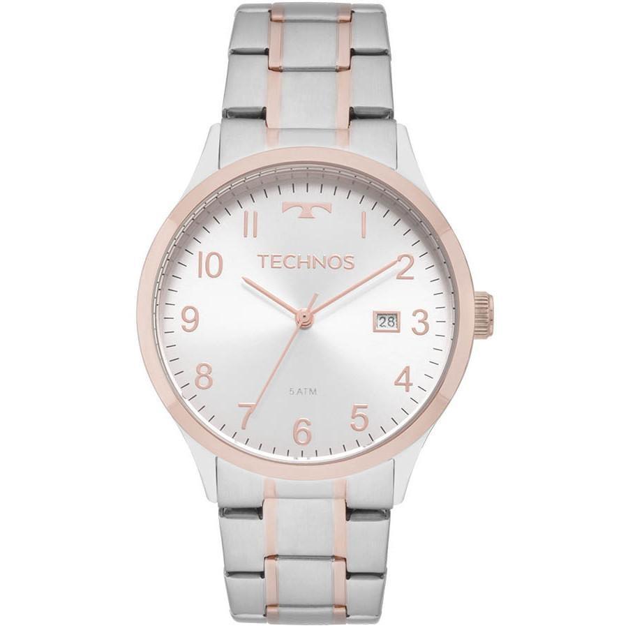 Relógio Feminino Technos 2115MNM/5K Aço Prata/Rose