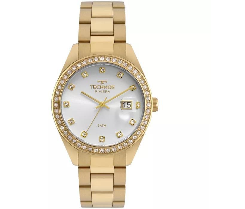 Relógio Feminino Technos 2115MOI/4K 38mm Aço Dourado