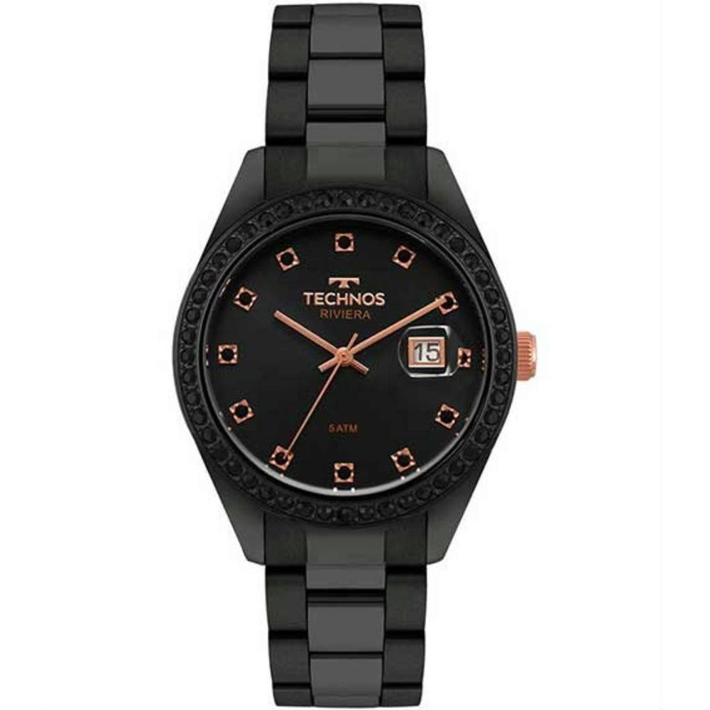 Relógio Feminino Technos 2115MOJ/4P 38mm Aço Preto