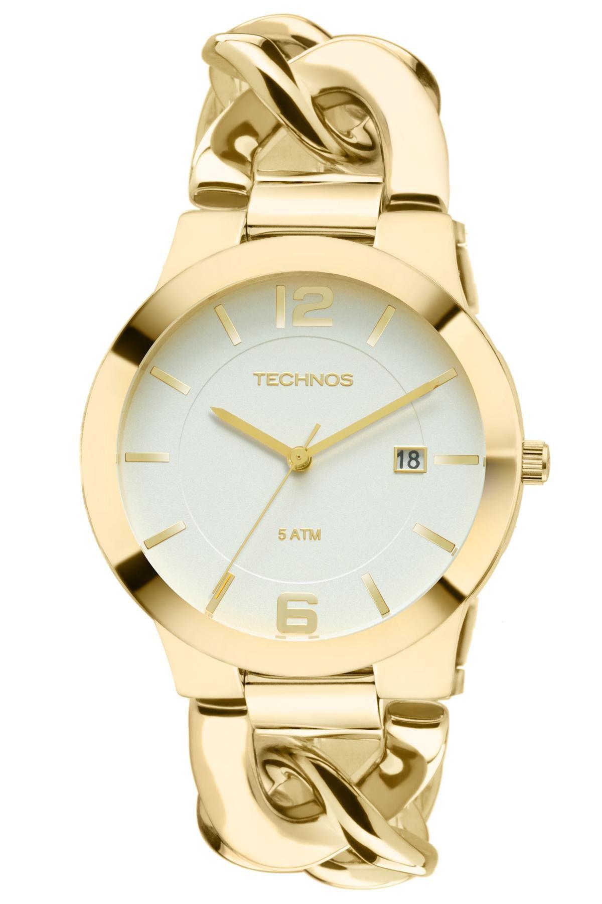 Relógio Feminino Technos 2115UL/4B 40mm Aço Dourado