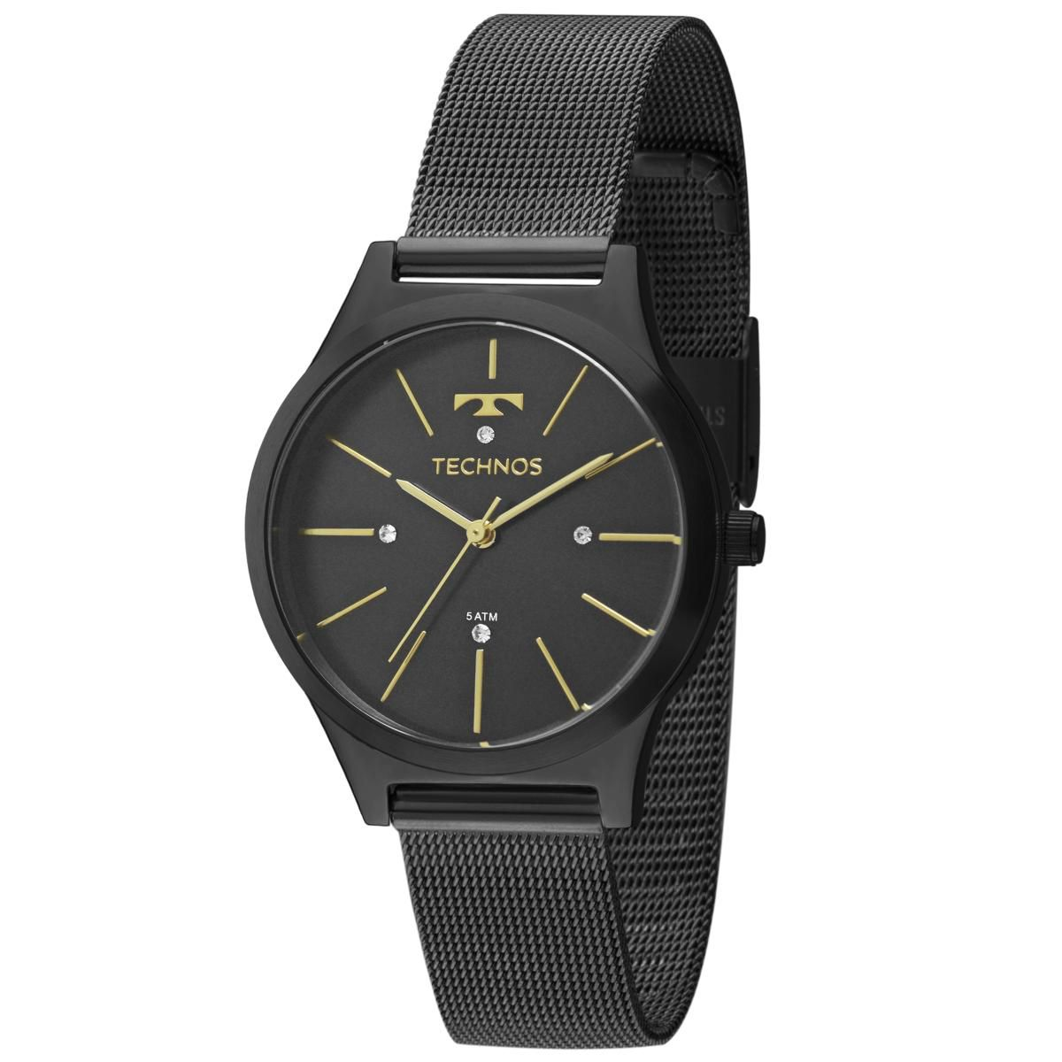 Relógio Feminino Technos 35mm 2039BG/4P Trend Preto