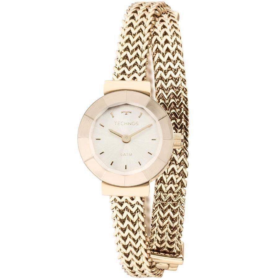 Relógio Feminino Technos Elegance Mini 5Y20IP/4X 21mm Aço Dourado