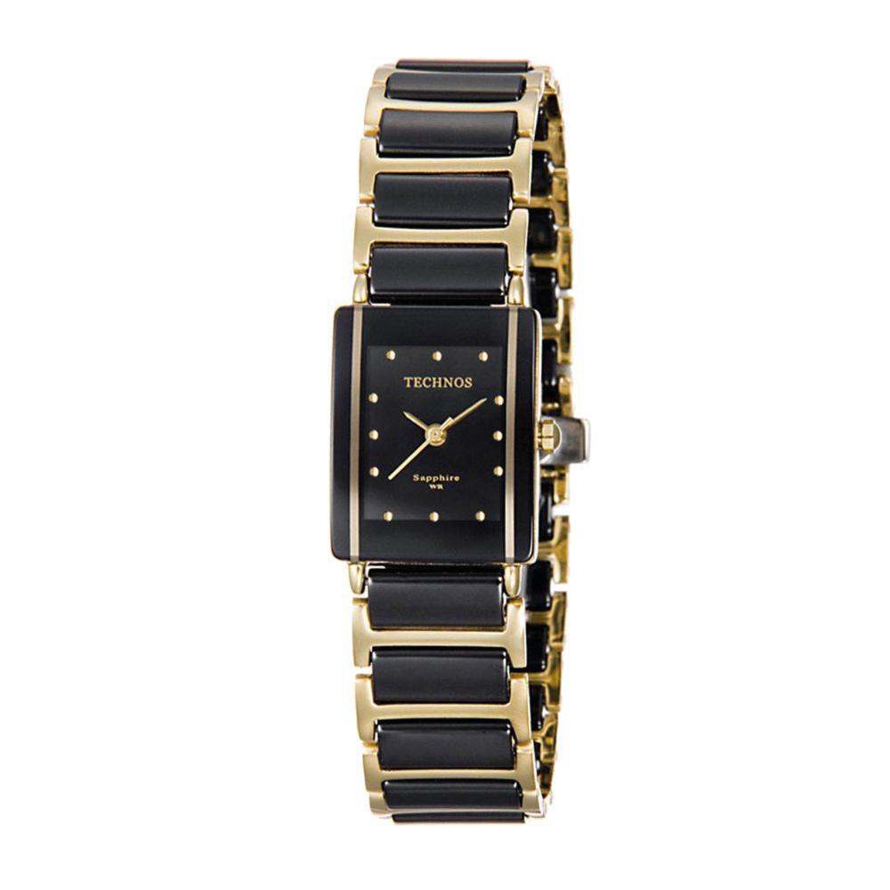 Relógio Feminino Technos 5Y30MYPAI/4P 18mm Cerâmica Preta