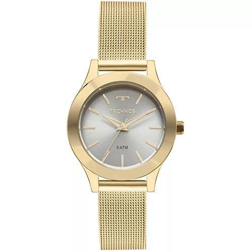 Relógio Feminino Technos Boutique 2035MKR/4V 32mm Pulseira Aço Dourada