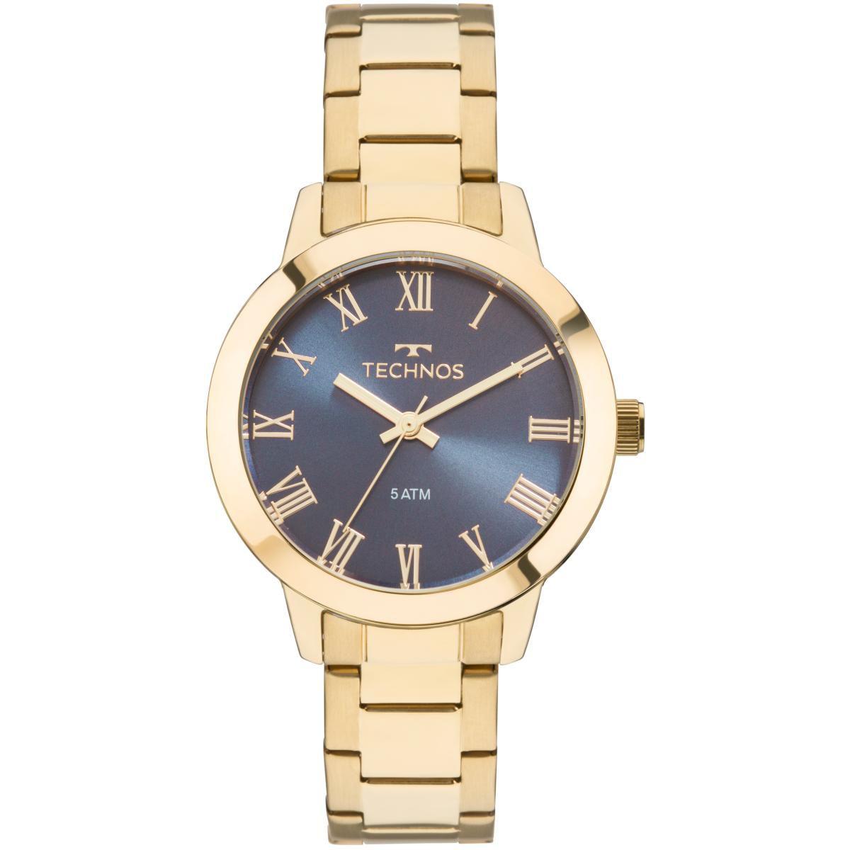 1803e29123d Relógio Feminino Technos Boutique 2035MKU 4A Pulseira Aço Dourada