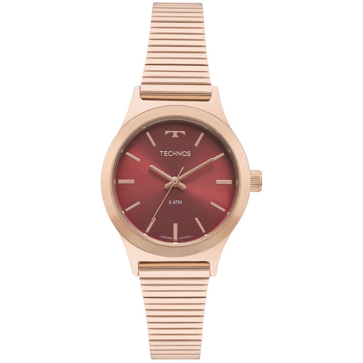 Relógio Feminino Technos Boutique 2035MQI/5R 30mm Aço Rosé