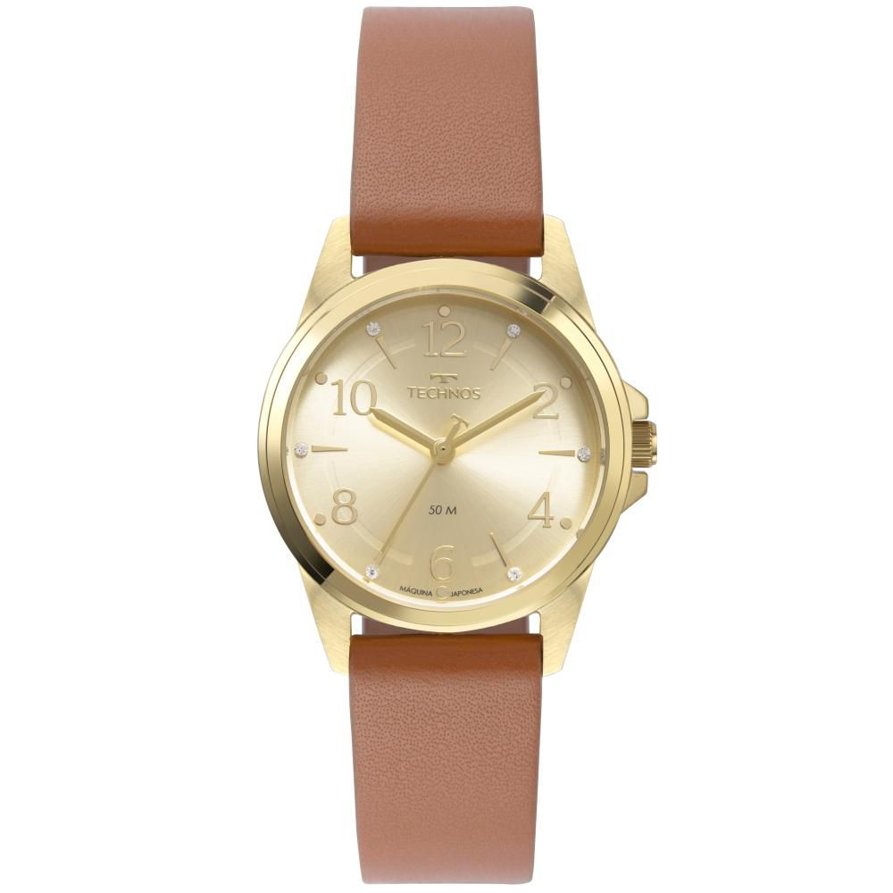 Relógio Feminino Technos Boutique 2035MTH/0X 34mm Couro Marrom