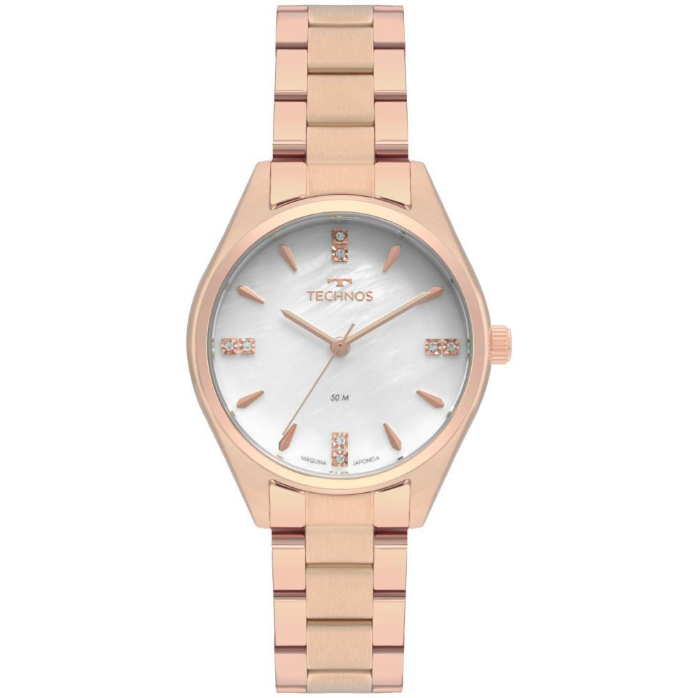 Relógio Feminino Technos Boutique 2036MKT/4B 35mm Aço Rose