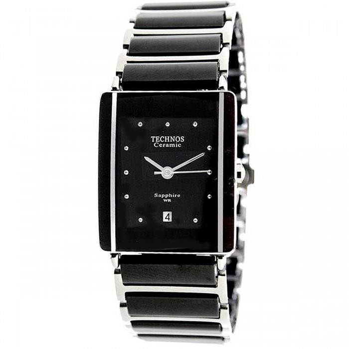 Relógio Feminino Technos Ceramic 1N12ACPAI/1P 25mm Aço Prata/Cerâmica Preta