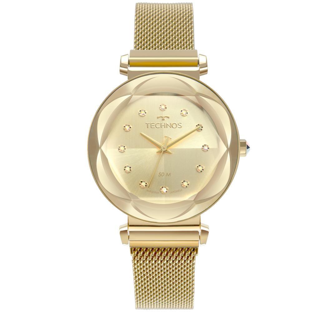 Relógio Feminino Technos Crystal 2035MRZ/4X 38mm Aço Dourado