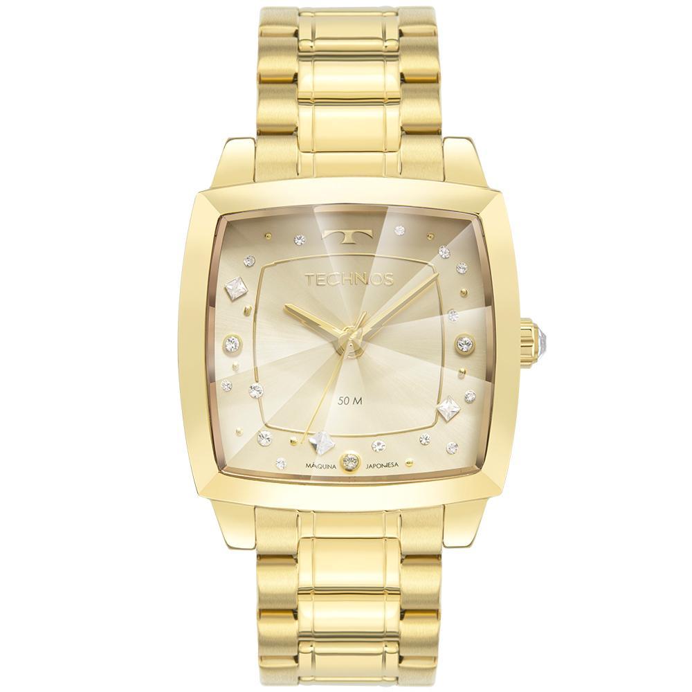 Relógio Feminino Technos Crystal 2036MNG/1X 36mm Aço Dourado