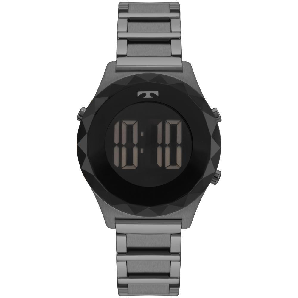 Relógio Feminino Technos Crystal BJ3851AA/4P Aço Grafite
