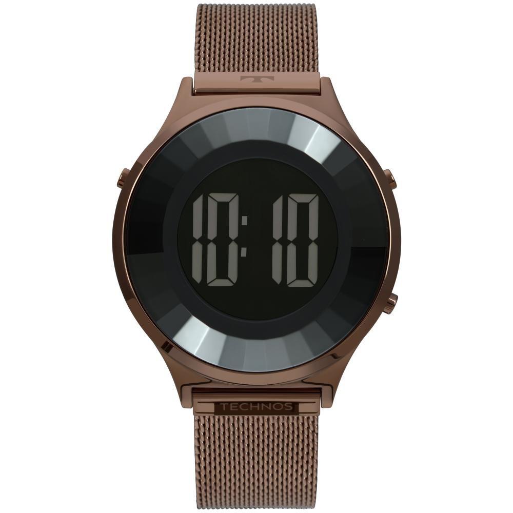 Relógio Feminino Technos Crystal BJ3851AH/4P 40mm Aço Marrom