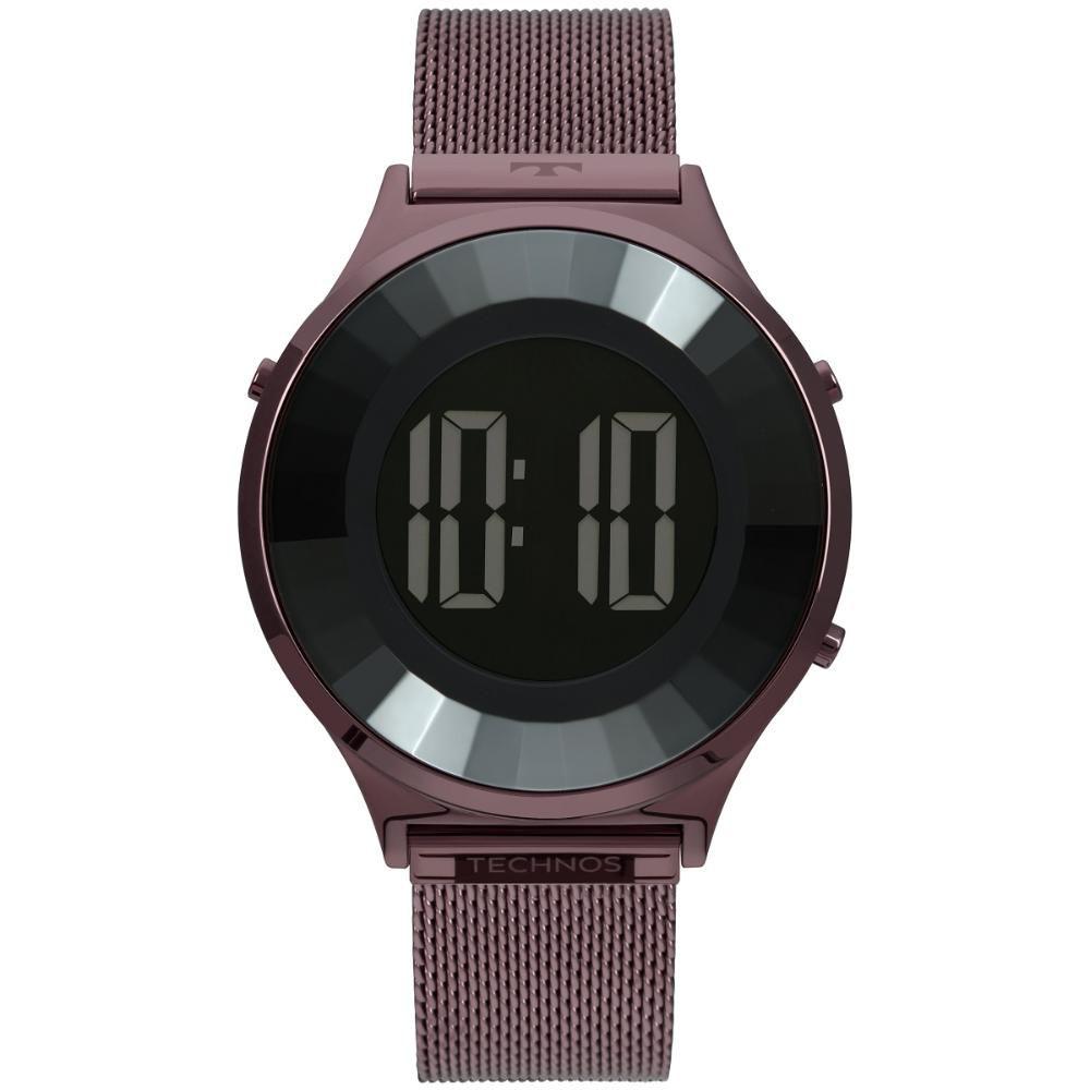Relógio Feminino Technos Crystal BJ3851AI/4P 40mm Aço Roxo