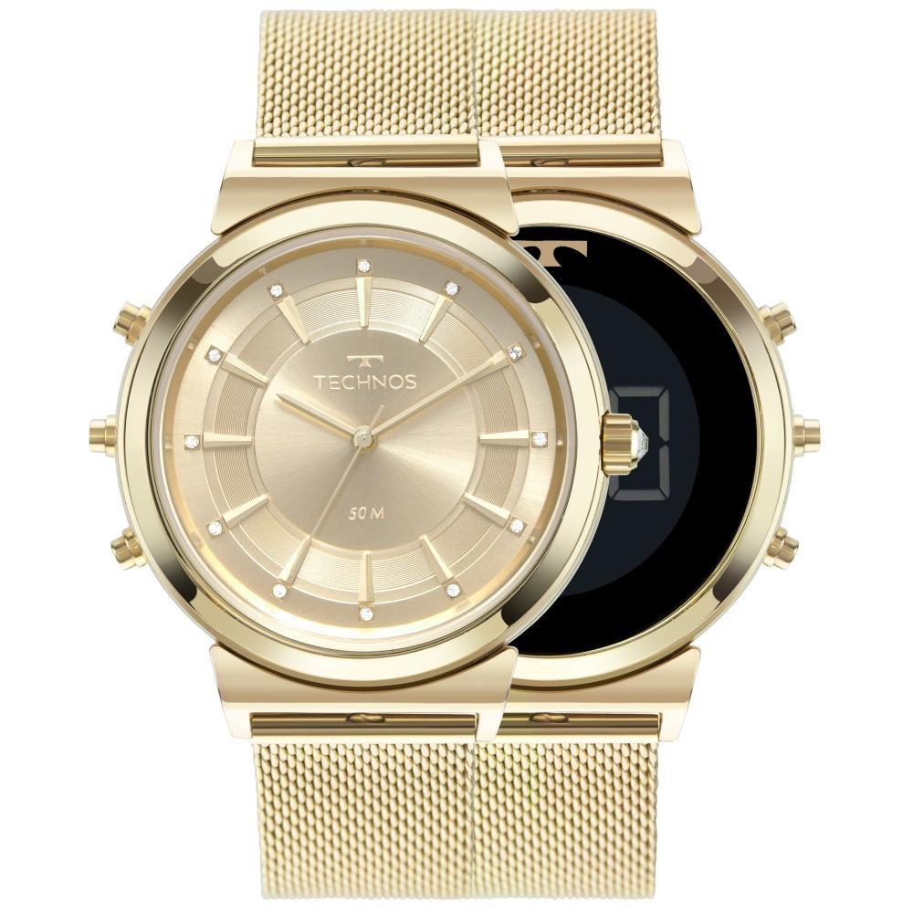 Relógio Feminino Technos Curvas 9T33AA/4X 38mm Aço Dourado